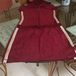 JLO Velour hooded dress